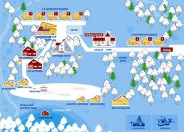 """Схема трасс горнолыжного комплекса  """"Ашатли """" ."""